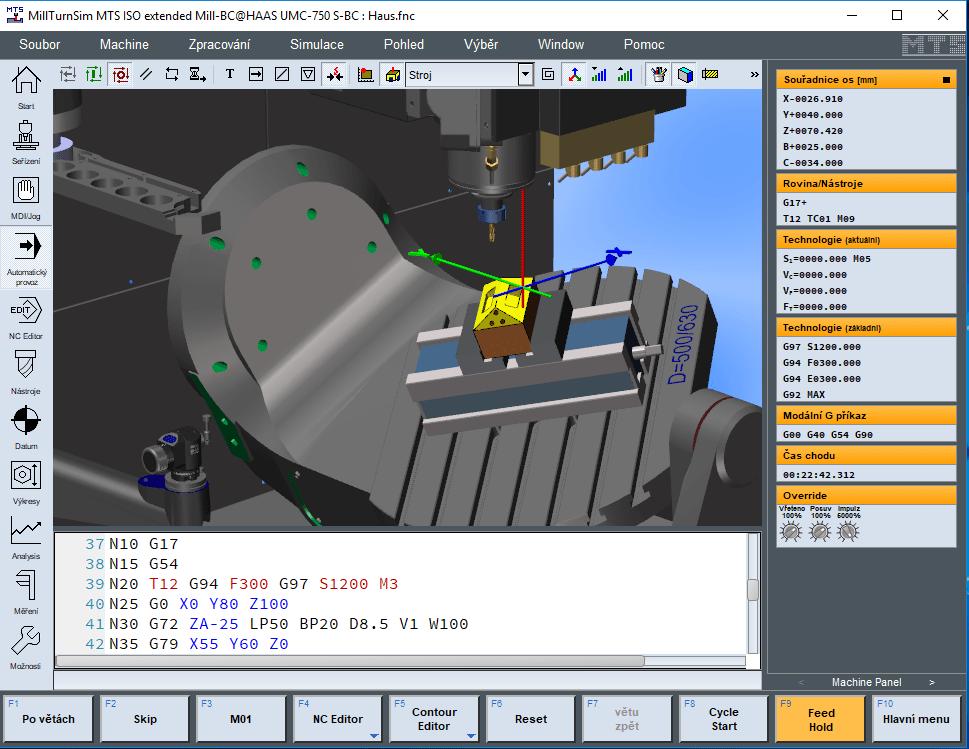 Simulátor CNC programování Simulátor CNC programování MTS TopMill